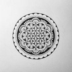 A Flower of Life Mandala Doodle I did for a tattoo design. #mandala #tattoo…