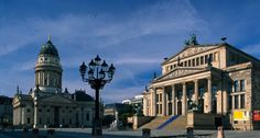 Berlin, Gendarmenmarkt square, Konzerthaus concert hall and German Cathedral World Cities, Berlin Germany, Dom, The Locals, Places To See, Louvre, The Incredibles, Culture, Mansions