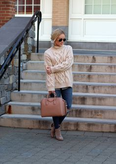 STYLE // Chunky Cableknit Turtleneck Sweater