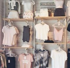 I love this kind of shops and clothes.