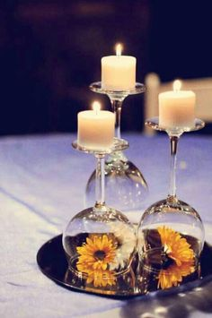 Centerpieces for cocktail hour