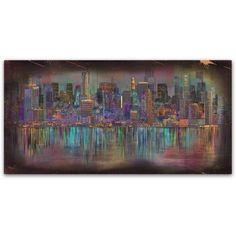 Trademark Fine Art 'Los Angeles' Canvas Art by Ellicia Amando, Size: 24 x 47, Multicolor