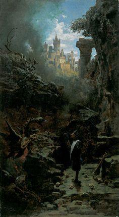Carl Spitzweg (German, 1808-1885). Der Hexenmeister, ca. 1875. Museum Georg Schäfer, Schweinfurt, Germany