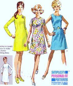1960s Womens Plus Size A line Dress