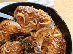 Smothered and Covered Chicken and Gravy recipe  via Food Network