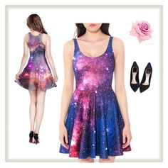 """""""galaxy dress"""" by anjakielb on Polyvore featuring Christian Dior"""