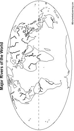 How Rivers Regulate Global Carbon Cycle Geology Page Geology - Blank world map with major rivers