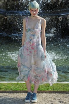 Chanel 2013 Resort, Joanna Koltuniak. Love this dress so much, hate those shoes so much.