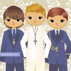 ...y más chicos guapos... www.decorazones.es Pedidos: hola@decorazones.es  #recordatoriospersonalizados #recordatorioscomunion #marcapaginas #laminasinfantiles #invitacionescomunion #comuniones2017 #primeracomunion