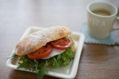 healthy lunch: caprese sandwich