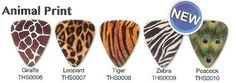 Animal Print Guitar Picks by Seven Kings. $3.99