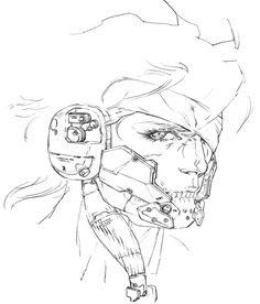 Raiden Face Side Concept, Metal Gear Rising: Revengeance