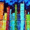 city scape reflection