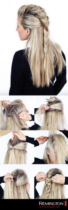 Crea una ilusión de mawhawk con tu propio cabello siguiendo este DIY. #style…