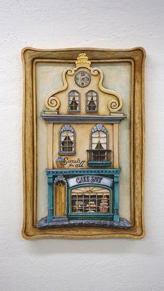 Cake Shop - Woodcarving ...  Řezbářství Hejkalíci - Tomáš Hejhal Cake Shop, Woodcarving, Frame, Shopping, Home Decor, Picture Frame, Patisserie, Decoration Home, Room Decor