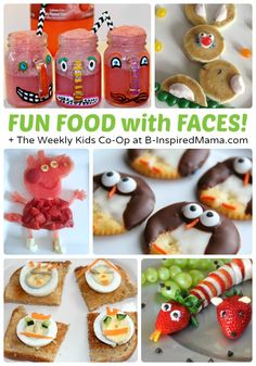 Food with Faces Make Kids Smile, Too via B-Inspired Mama