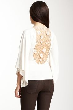 Lace open back top.  Love...  now if I could find a tank top like this..