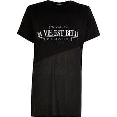 Black splice print oversized t-shirt - print t-shirts / vests - t shirts / vests / sweats - women