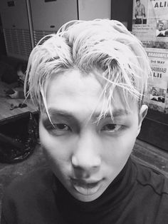 Namjoon in black and white!! ❤️