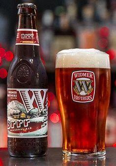 Cerveja Widmer Brothers BRRR Seasonal Ale, estilo Strong Scotch Ale, produzida por Widmer Brothers Brewing Company, Estados Unidos. 7.2% ABV de álcool.