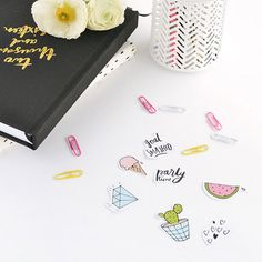 Add a little (or a lot!) of fun to your planner with these colorful printable diary stickers.