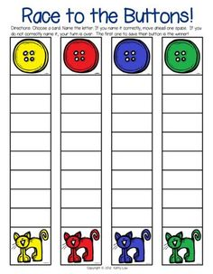 73 Cool Pete the Cat Freebies and Teaching Resources :: KindergartenWorks - Letter or Sound Fluency Game