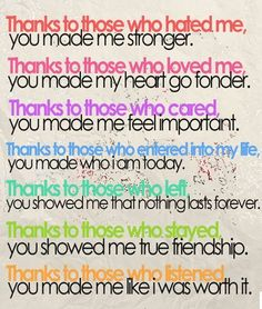 Powerful words...