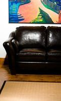 "Remove body odor from a leather couch as soon as you notice it. Or say ""sayonara, sofa!"""