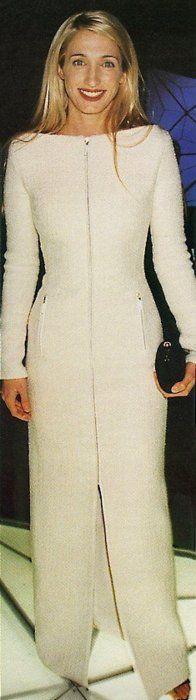 Carolyn Bessette Kennedy in stunning versace gown.