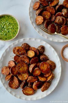 Extra Crispy Roasted Potatoes | Just a Taste