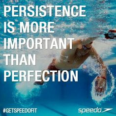 """Persistence is more important than perfection. When you work hard anything is possible! """"Since swimming is generally not an injury-heavy sport, a lot of people keep swimming years into their adult life, continuing even past the age of Fields/ Chicago Swim Team Quotes, Swimmer Quotes, Sport Quotes, Swimming Posters, Swimming Memes, Swimming Tips, Swimming Motivation, Fitness Motivation, Fitness Routines"""