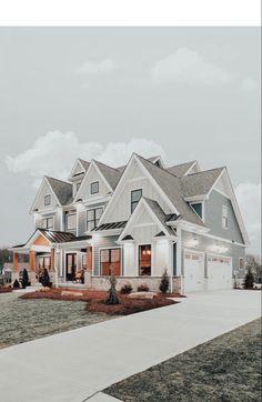 Dream House Exterior, Dream House Plans, Luxury House Plans, Big Houses Exterior, Simple House Plans, Dream Home Design, My Dream Home, Small House Design, Dream Life