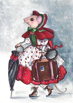 Pussycatdreams - Page 25 Christmas Mail, Christmas Scenes, Cartoon Drawings, Animal Drawings, Beatrix Potter, Maus Illustration, St Nicholas Day, Creation Photo, Pet Mice