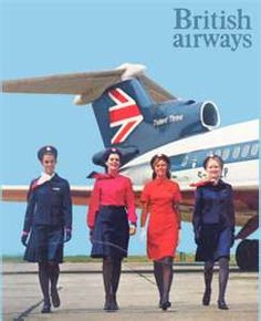 British Airways  The Hawker Siddeley HS 121 Trident (Selection Of Air Stewardesse's)