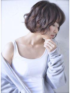 roijir☆石田朱乃☆無造作ウェーブ×小顔ボブ×メルトカラー☆