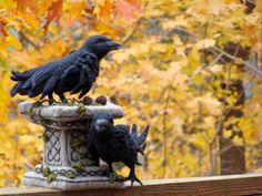 Needle Felted Celtic Tombstone Ravens Gaelic Soft Sculpture by Bella McBride