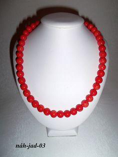 jadeit pomaranč náhrdelník