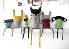 The new recycles Couch Monster, Monster Dolls, Softies, Sewing Crafts, Handmade Ideas, Handmade Dolls, Recycling, Projects To Try