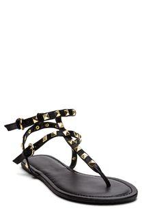 c422ffa4916c80 Studded Stroll Faux Leather Sandals GoJane.com