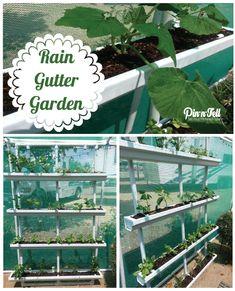 Self Watering Rain Gutter System Garden Pinterest