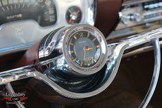 Clock steering wheel insert on a 1957 Plymouth Fury