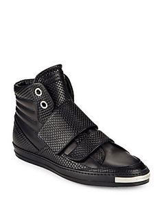 Alessandro Dell'Acqua Snake Leather High-Top Sneakers
