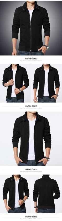 2016 kakki black green solid slim mens jackets and coats casual bomber jacket men brand 2016 M 5XL manteau homme men jacket male-in Jackets from Men's Clothing & Accessories on Aliexpress.com   Alibaba Group