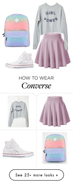 """outfit #9"" by ary-polyvore-outfits on Polyvore featuring Converse, Vans, women's clothing, women's fashion, women, female, woman, misses and juniors"