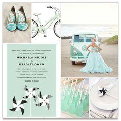 A Retro Mint wedding