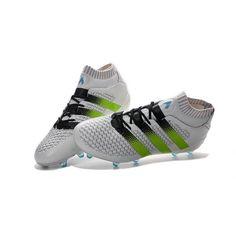 separation shoes 1ad39 87b64 Dégagement Homme Adidas - Chaussures adidas ACE 16.1 Primeknit FG AG Blanc  Vert Noir