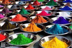 Colorful Tika Powders on Orcha Market in India