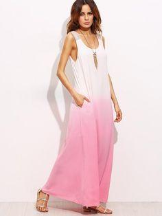 pink maxi dress, trendy maxi dress, sleeveless tie back pink dress - Lyfie