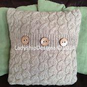 Cascading Cables Pillow Cover - via @Craftsy