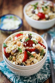 Mediterranean Orzo Pasta Salad - the best pasta salad you'll ever make!